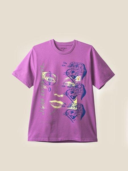 BRAIN DEAD X CARHARTT Noise Short Sleeve Tee - Purple