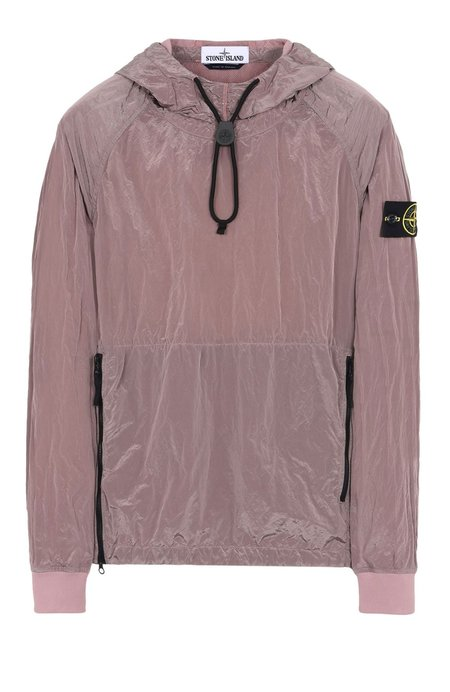 Stone Island Pullover Jacket with Zip Pockets and Toggle - Rose Quartz