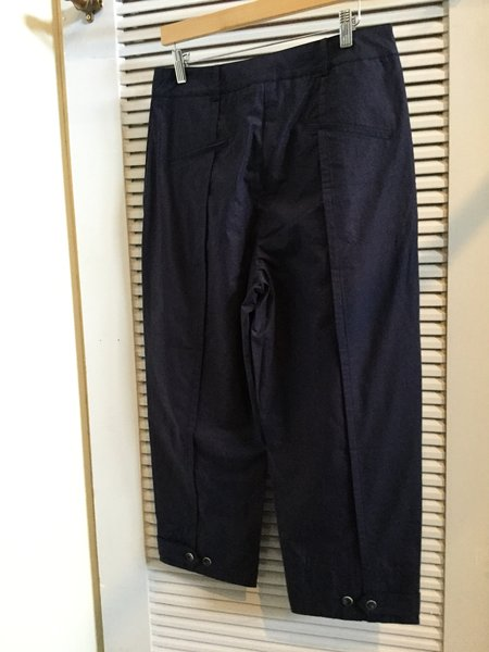 Colour 5 Cropped Trousers - Navy Blue