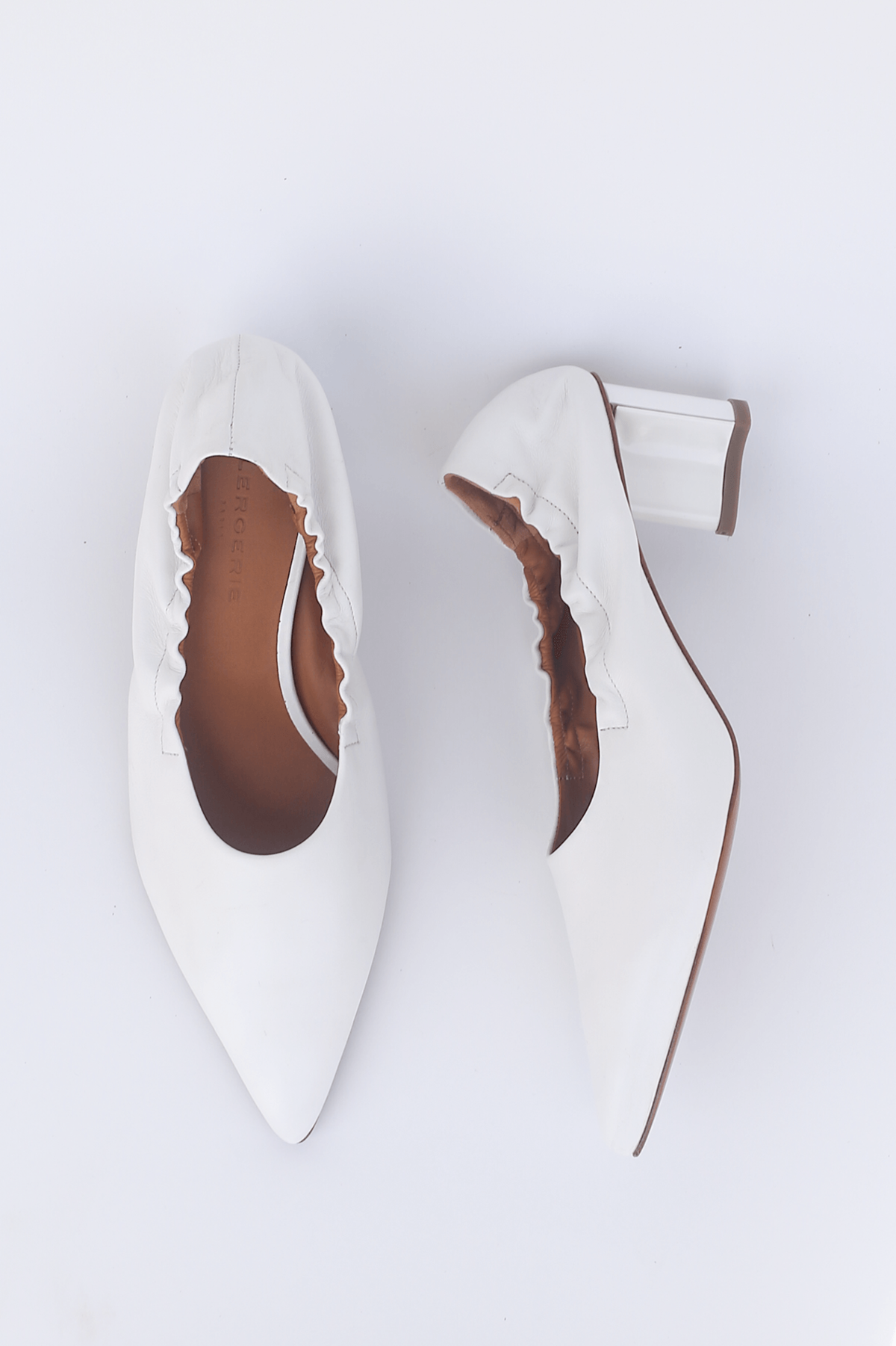 3becc610581 Robert Clergerie Nappa Solal Heel - White