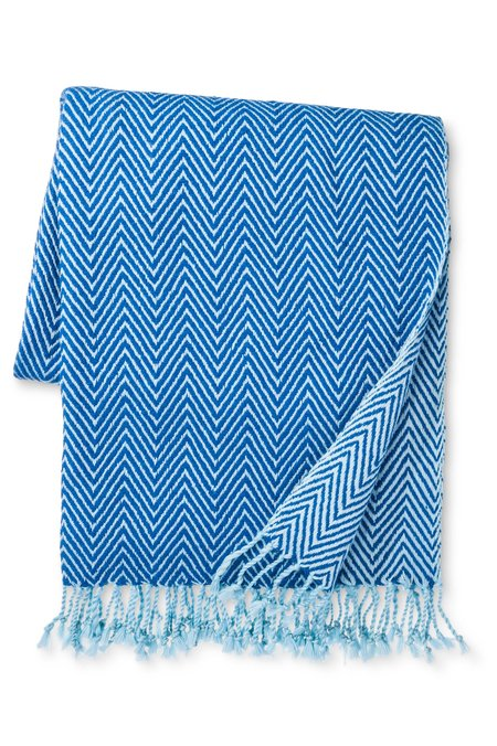 Mela Artisans Exclusive Herringbone Throw - Blue