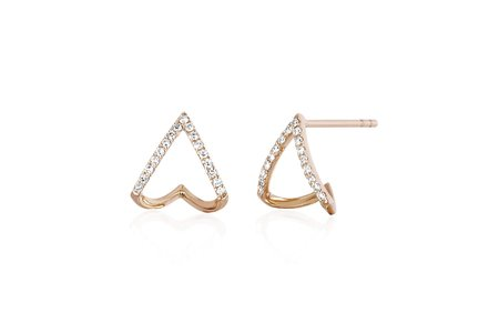 EF Collection Chevron Huggie Earring