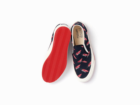 Maison Kitsuné Speedboat Sneakers - Black/Red