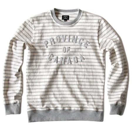 Unisex Province Of Canada Crewneck - Light Grey Stripe