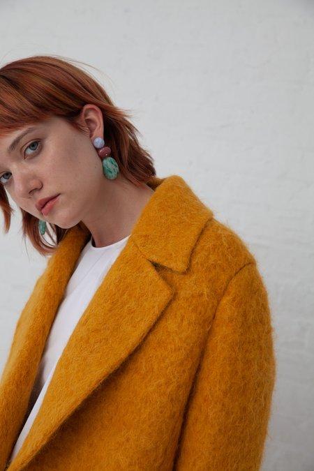 Jessica Winzelberg Mobile Earrings - Lace Agate/Rhodonite/Speckled Jade