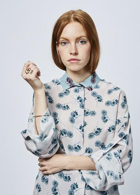 Odeeh Tab Sleeve Silk Shirt - Pink/Floral
