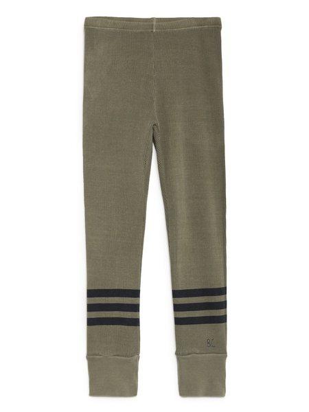 Kids Bobo Choses Blue Stripes Legging - Camo Green
