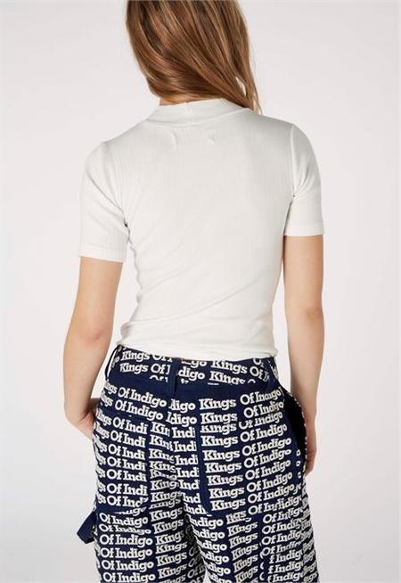 Kings Of Indigo Jacobina Mock Neck Shirt - Off White