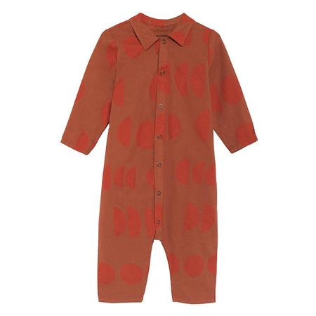 kids Bobo Choses Jumpsuit With Collar - Orange Moons