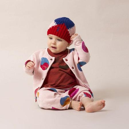 kids Bobo Choses Intarsia Geometric Hat - Multicolour