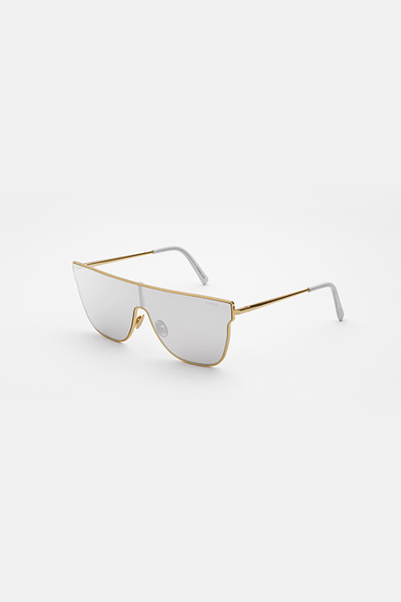 RetroSuperFuture FLAT TOP LENZ Sunglasses - IVORY