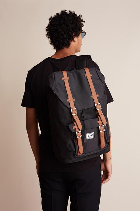 HERSCHEL SUPPLY CO Zaino Little America Mid Backpack - BLACK