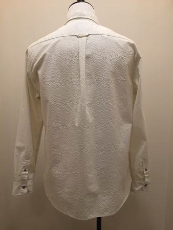 Jachs Long sleeve Seersucker Button Up - Eggshell