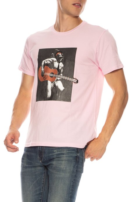 THE ART OF SCRIBBLE Guitarist T-Shirt - PINK