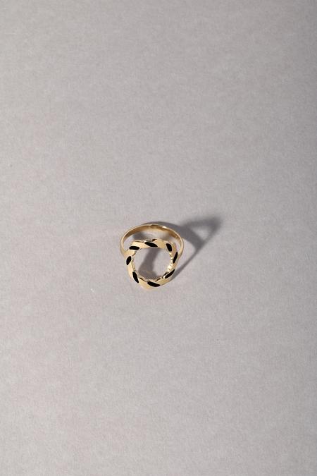 Anne Thomas Saint Malo Ring - BLACK