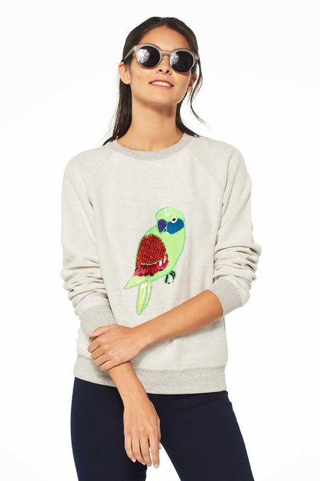 Uzma Bozai Parrot Sweatshirt - ECRU