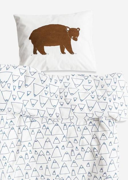 Kids Fine Little Day Bruno/Mountain Baby Bed Sheet Set - White