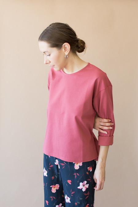 Side Party Buddy Sweater Shirt - Mauve