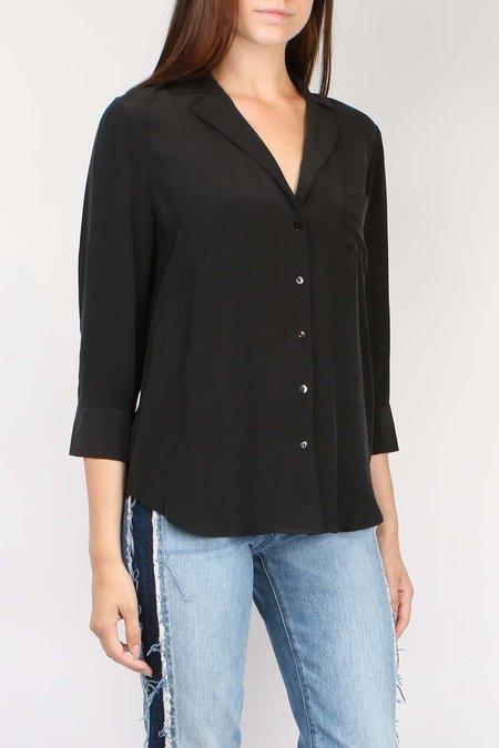 L'agence Amilna One Pocket Blouse - BLACK