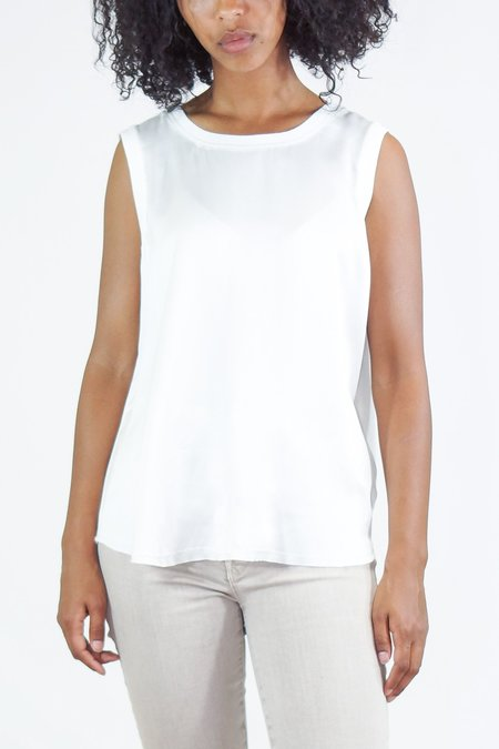 GOSILK Go Totally Biased Washable Silk Tank Top - White