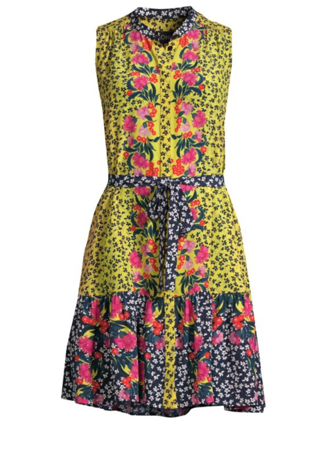 Saloni Tilly Dress - Yellow Daisies