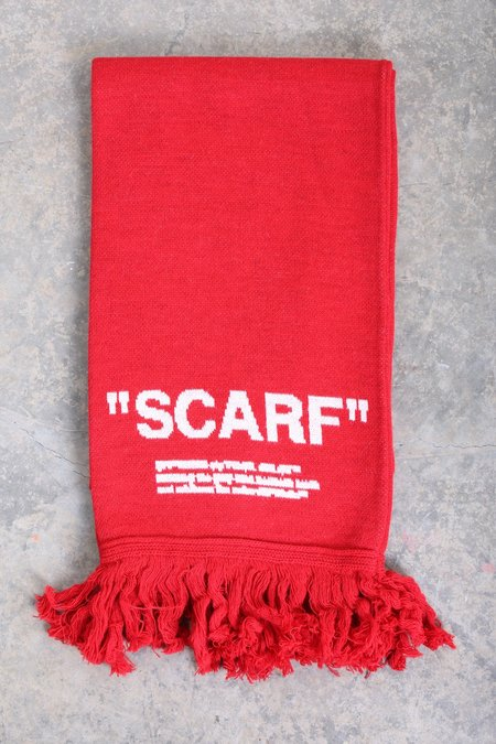 Off-White Quote Scarf - red