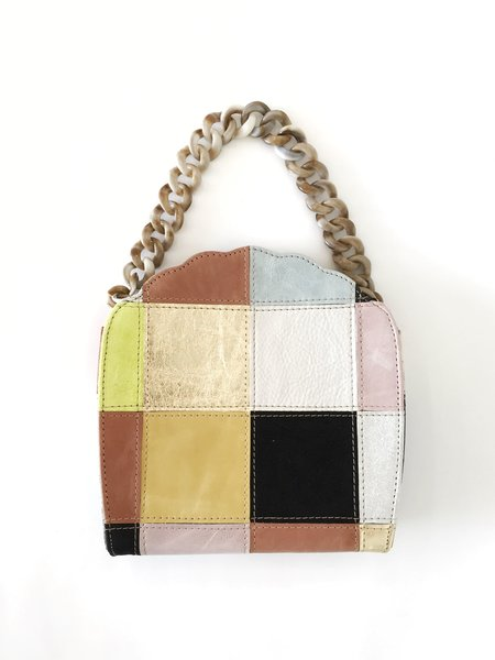 CAB Collection Eleanor Shell Evening Bag - Patchwork