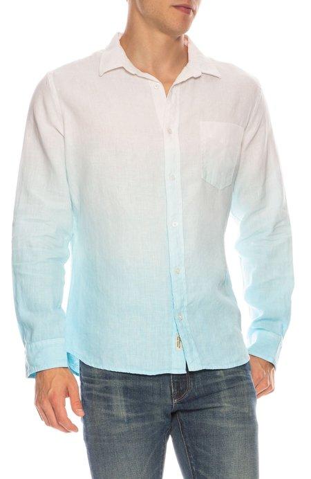 ORIGINAL PAPERBACKS Nice Linen Ombre Shirt - WHITE/PACIFIC