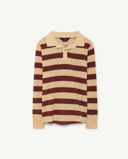 Kids Unisex The Animals Observatory Eel T-Shirt - yellow/maroon stripe