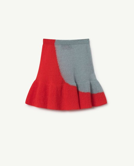 Kids The Animals Observatory Swan Knit Skirt - Soft Blue/Red