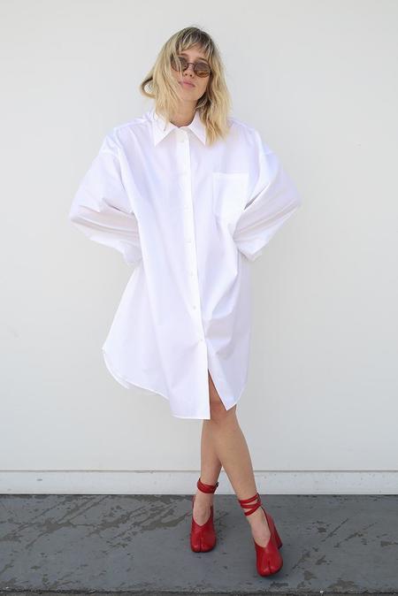 maison margiela Cotton Poplin Shirt - Optic White