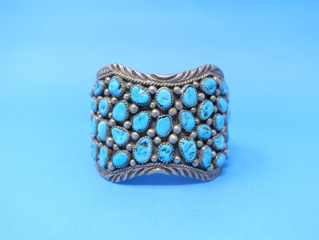 Queen City General Store VINTAGE Turquoise Cuff