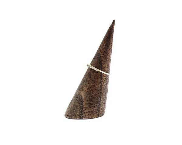 E.M. Pave Mini Grey Diamond Ring