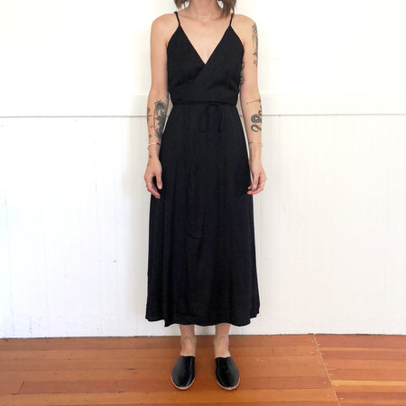 Ali Golden TANK WRAP DRESS - BLACK