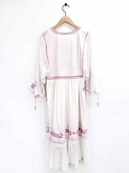Santa Lupita Eden Garden Dress - White/Lavender