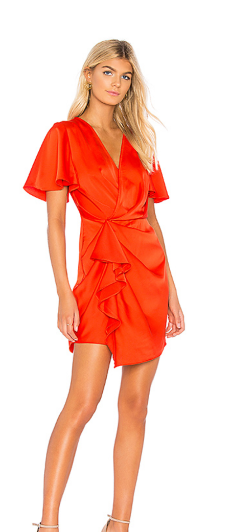 C/Meo Collective No Less Mini Dress - RED