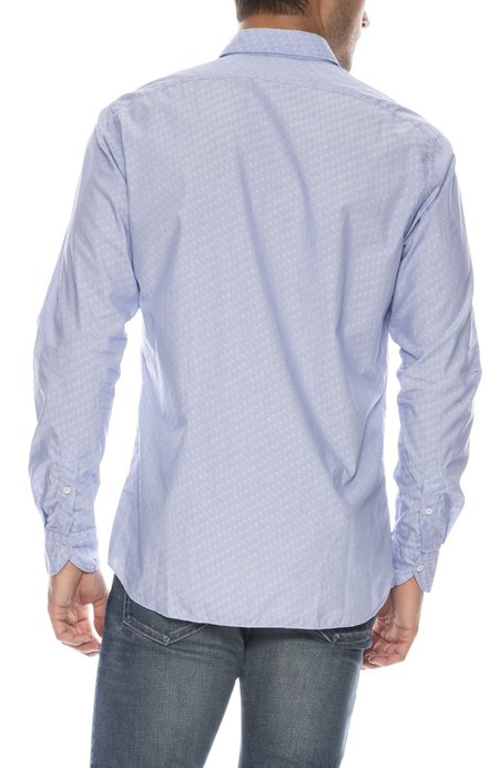 TODAY IS BEAUTIFUL / RON HERMAN Exclusive Brezza Jacquard Button Down Shirt - blue/white