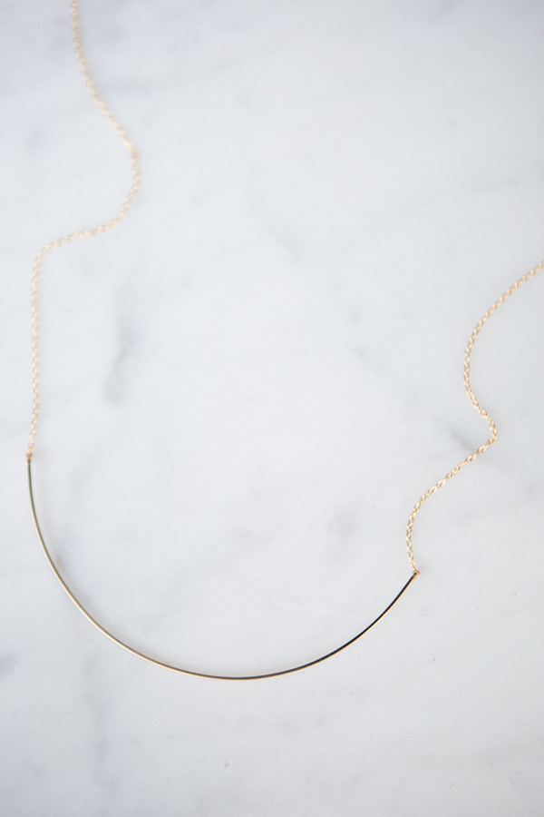 By Boe Double Curved Wire Necklace