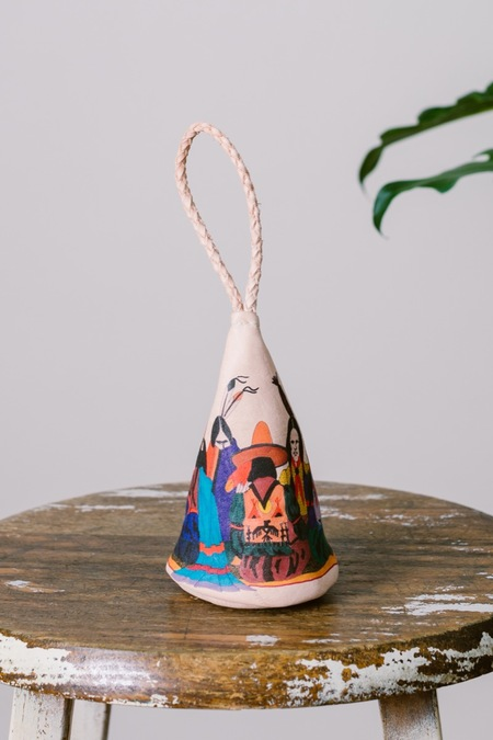 Style Camp Leather Teepee Wristlet Bag