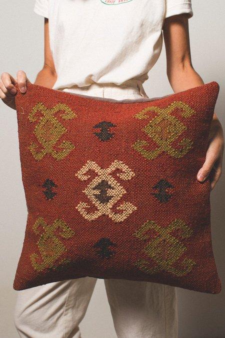 Kopal Woven Pillow Cover - Red