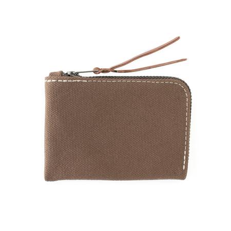 MAKR Canvas Zip Slim Wallet - TOBACCO