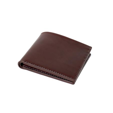 MAKR Open Billfold Wallet - OXBLOOD