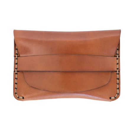 Makr Cordovan Flap Slim Wallet - Natural