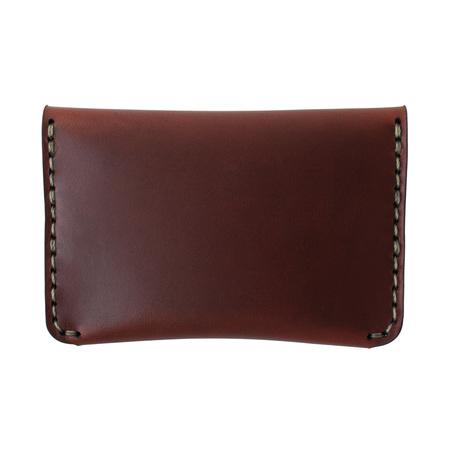 MAKR Flap Slim Wallet - Oxblood