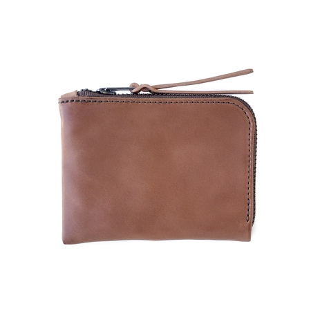 MAKR Cordovan Zip Slim Wallet - Natural