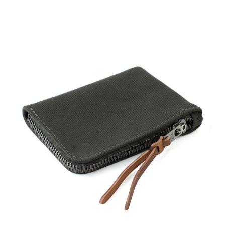 MAKR Canvas Zip Slim Wallet - ARMY GREEN
