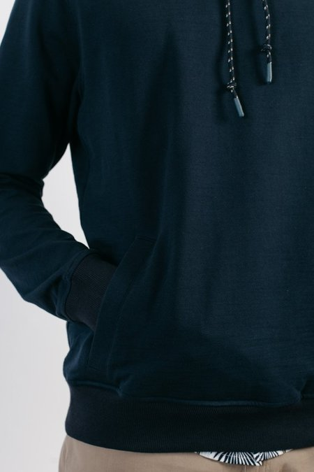 bridge & burn willams hooded pullover - navy