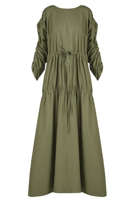 N-DUO long dress - Khaki