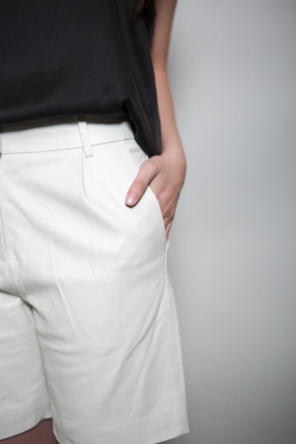 Just Female Shape Leather Shorts
