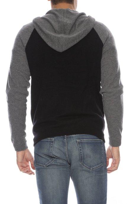 TODAY IS BEAUTIFUL x RON HERMAN Exclusive Colorblock Cashmere Zip-Up - BLACK/BANKERS GREY